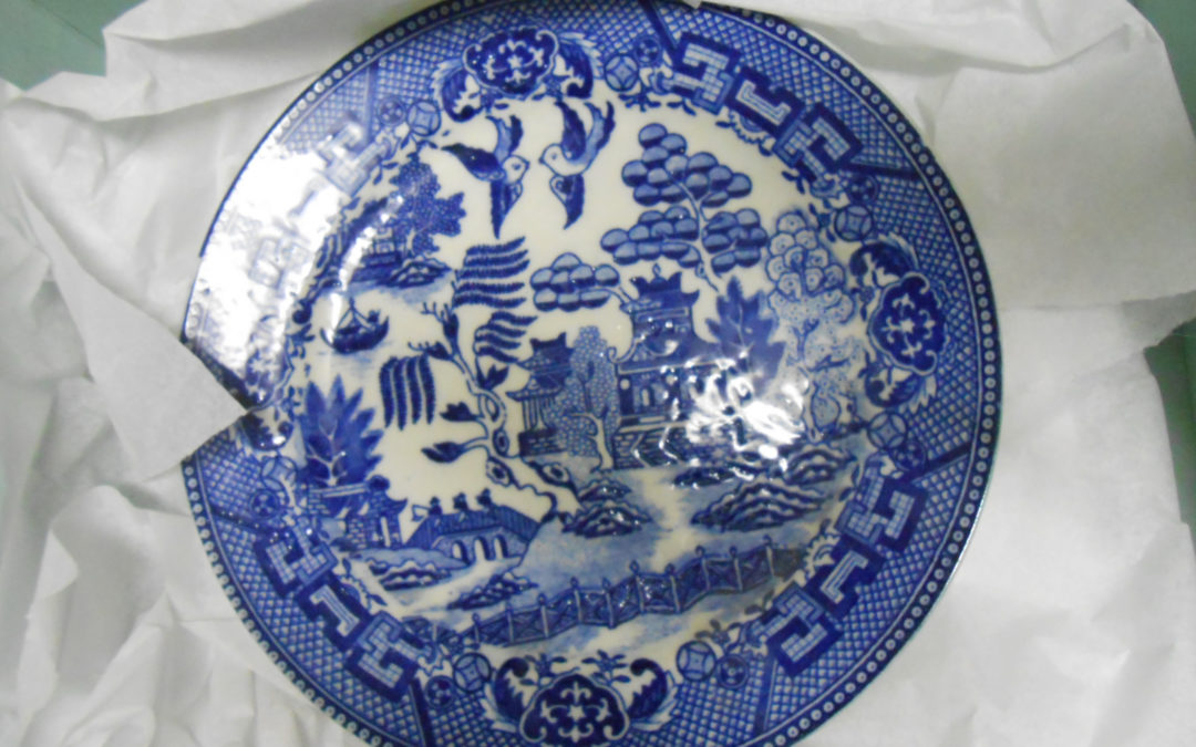 1930 Blue Willow Plate